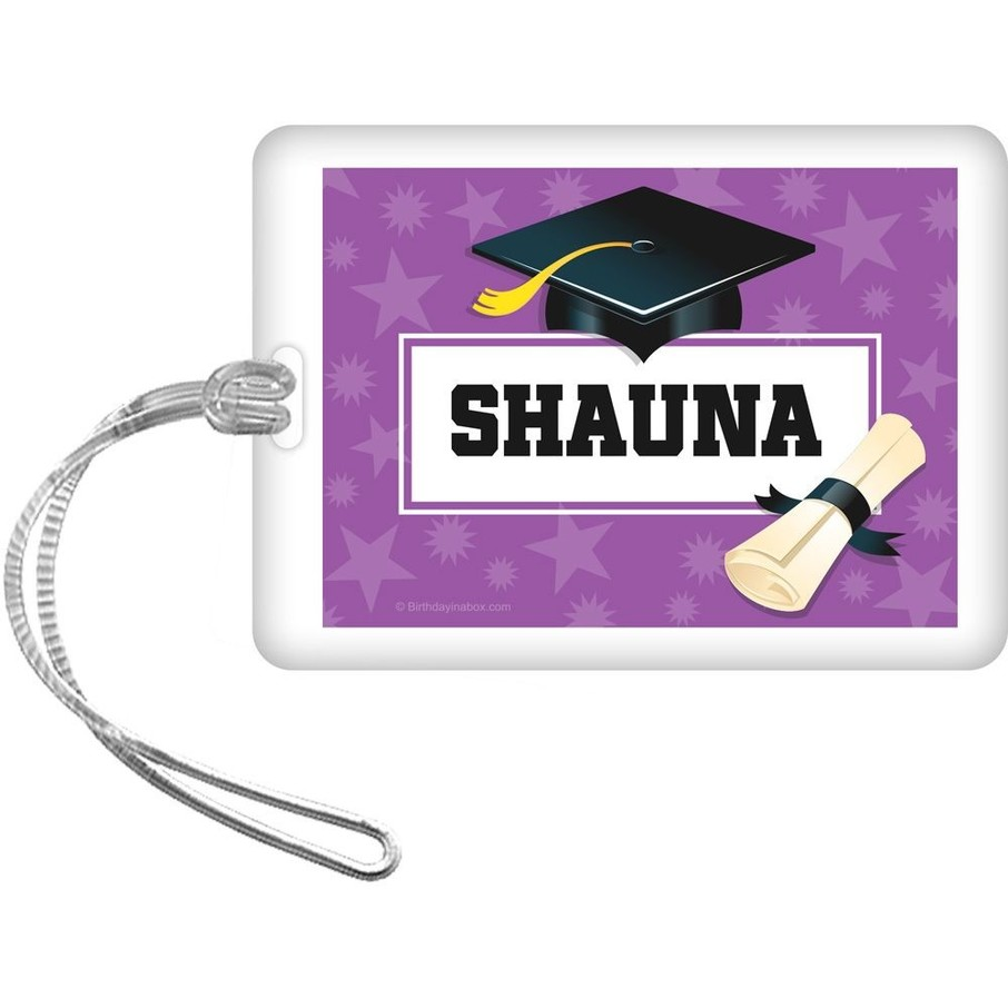 View larger image of Purple Grad Personalized Bag Tag (Each)
