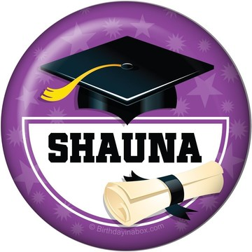 Purple Grad Personalized Button (Each)