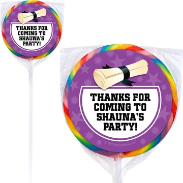 Purple Grad Personalized Lollipops (12 Pack)