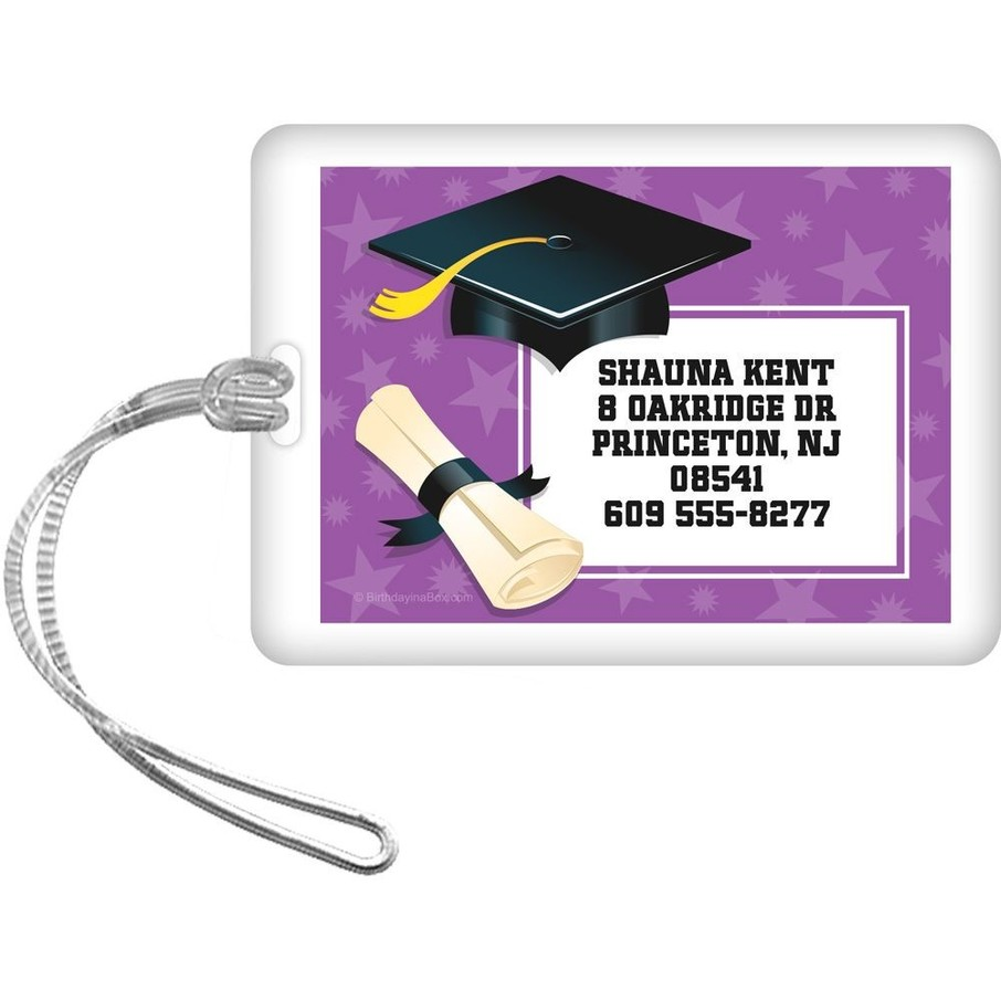 View larger image of Purple Grad Personalized Luggage Tag (Each)
