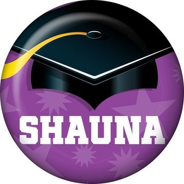 Purple Grad Personalized Mini Button (Each)