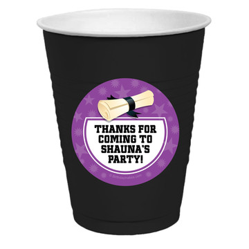 Purple Grad Personalized Party Cups, 50ct