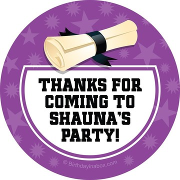 Purple Grad Personalized Stickers (Sheet Of 12)