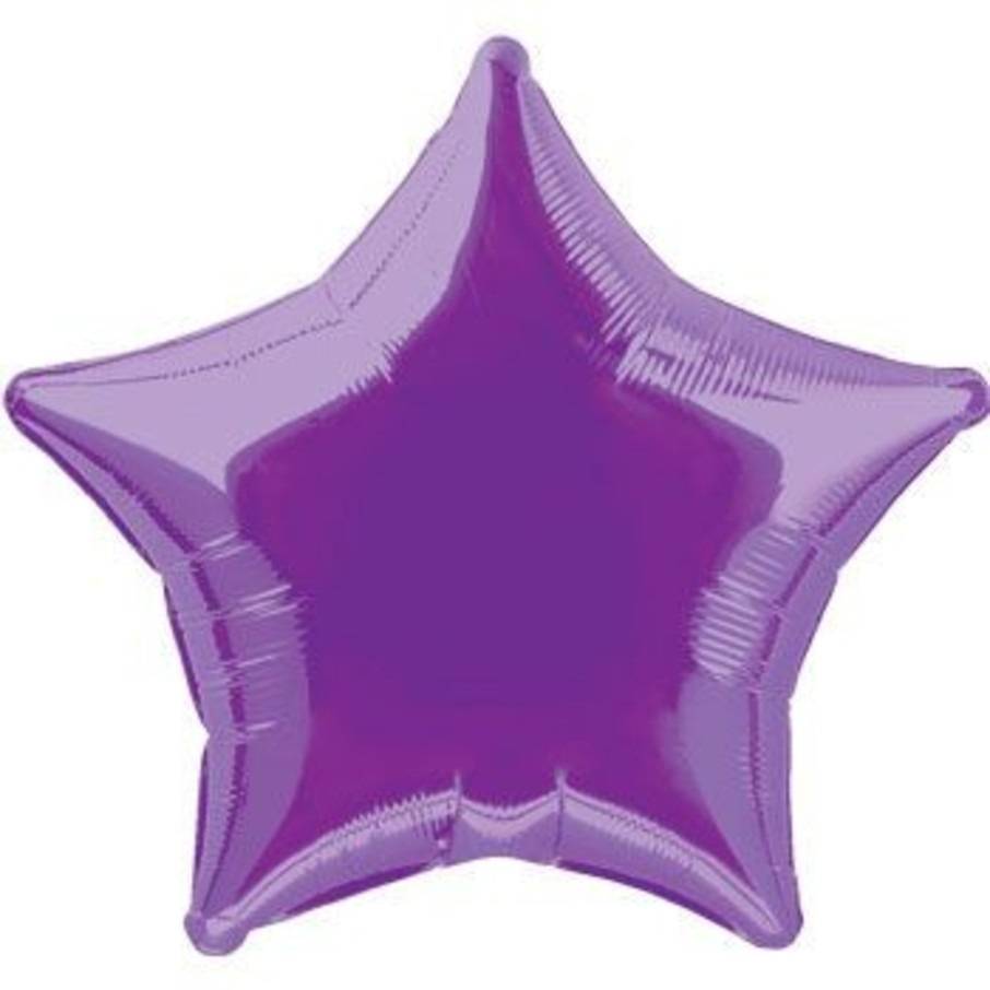 View larger image of Purple Mylar Star Balloon (each)