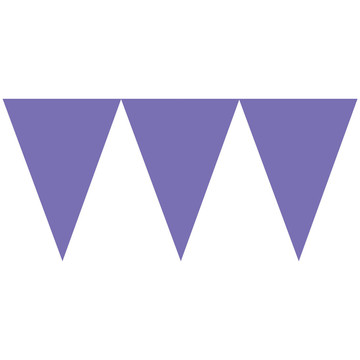 Purple Paper Pennant Banner