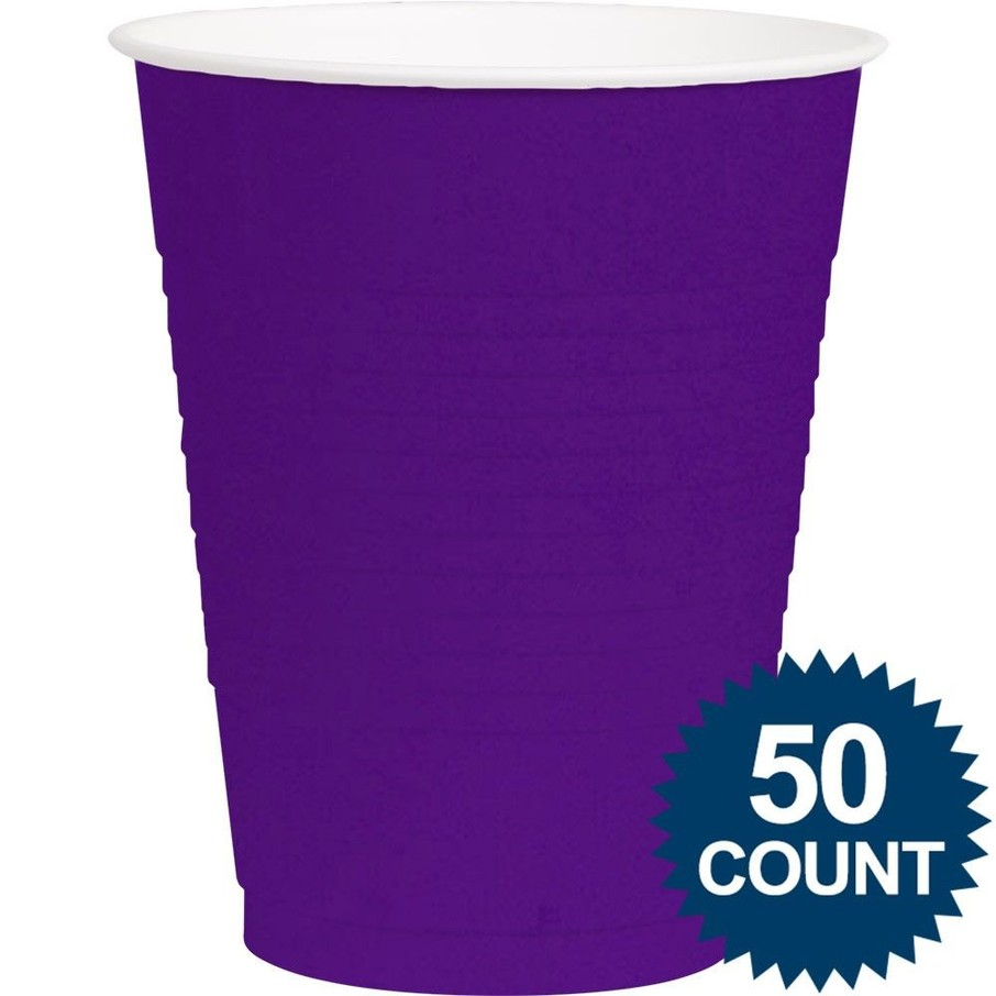 View larger image of Purple Plastic 16oz. Cup (50 Pack)