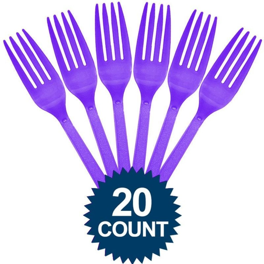 View larger image of Purple Plastic Forks (20 Pack)