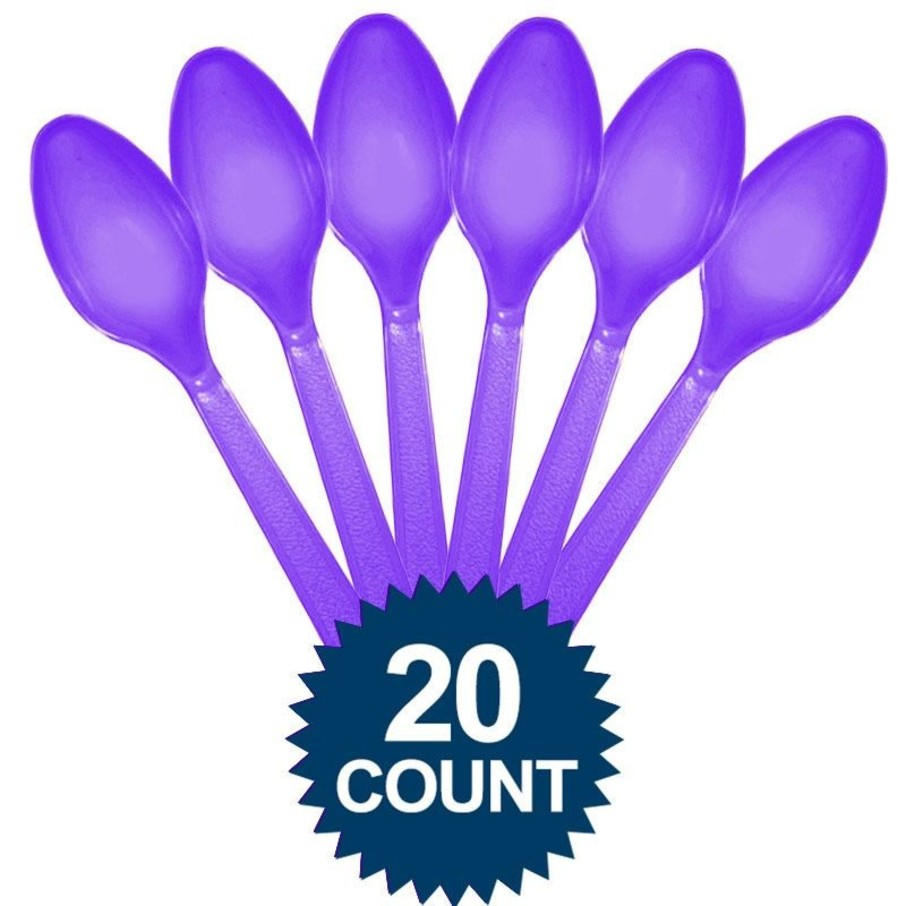 View larger image of Purple Plastic Spoons (20 Pack)