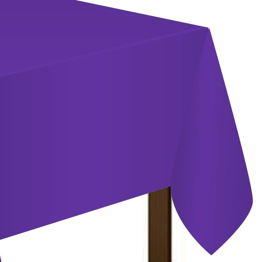View larger image of Purple Plastic Table Cover (Each)