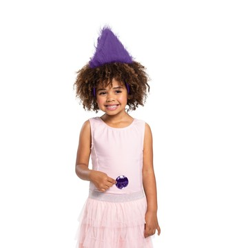 Purple Trolls Child Headband With Gem