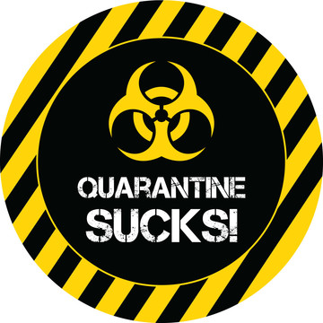 Quarantine Party Stickers (Sheet of 12)