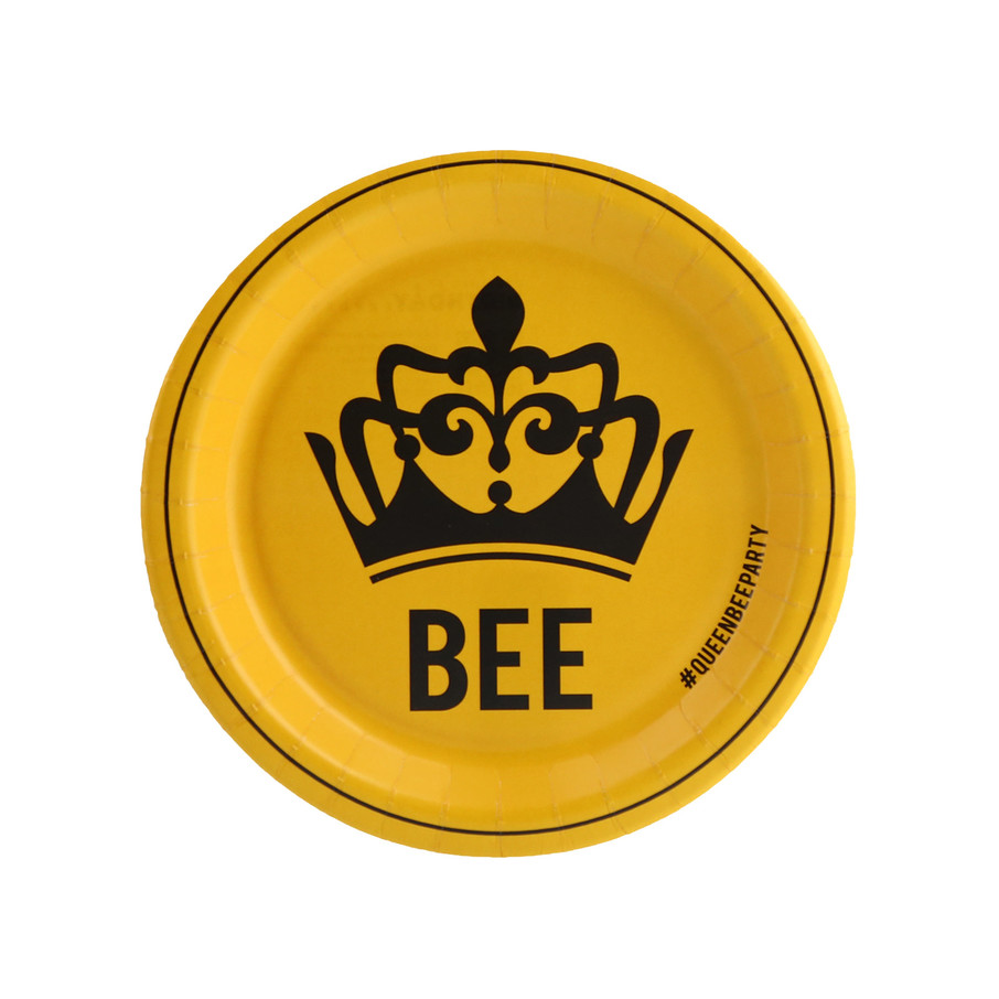 View larger image of Queen Bee Yellow Dessert Plate (8)
