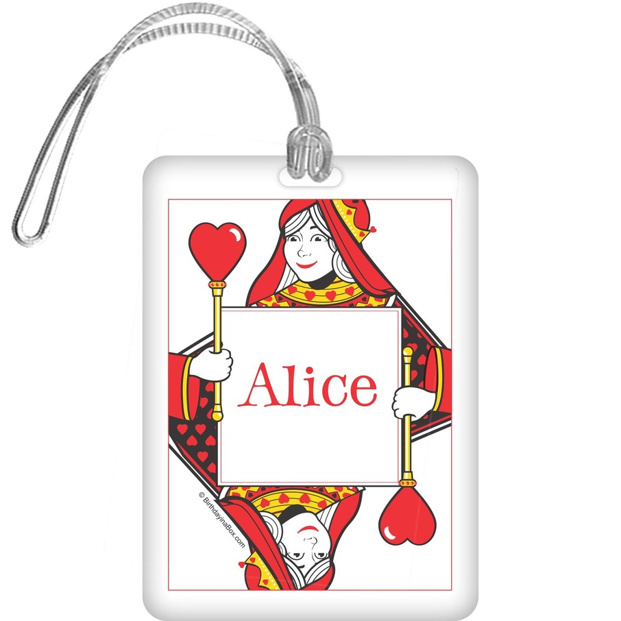 View larger image of Queen's Card Party Personalized Bag Tag (each)