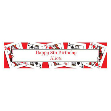 Queen's Card Party Personalized Banner (each)