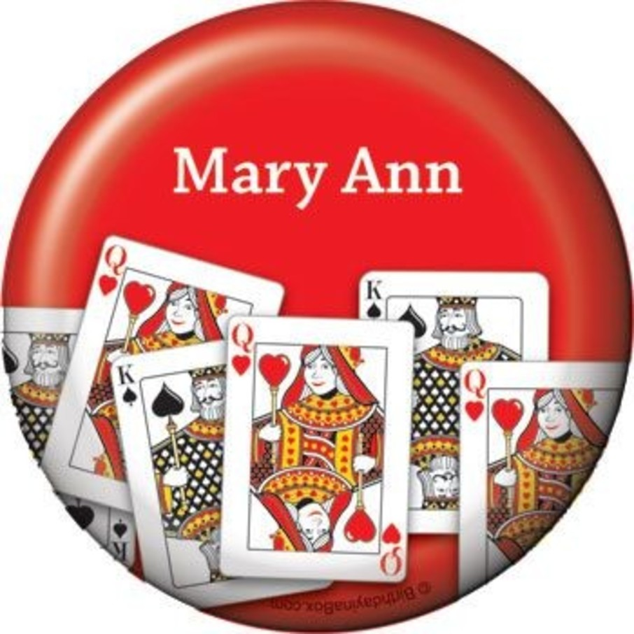 View larger image of Queen's Card Party Personalized Button (each)
