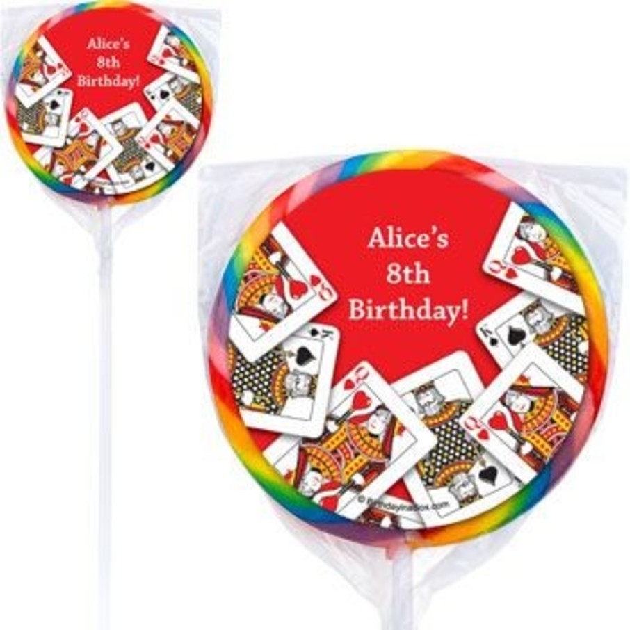View larger image of Queen's Card Party Personalized Lollipops (pack of 12)