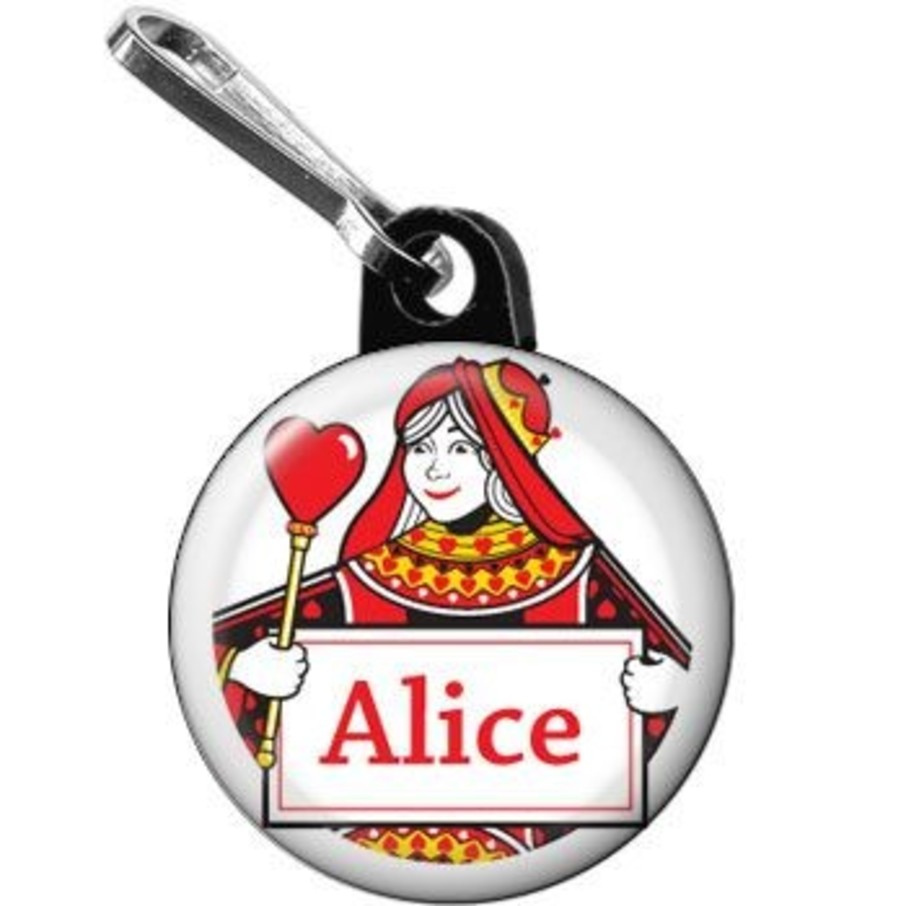 View larger image of Queen's Card Party Personalized Mini Zipper Pull (each)