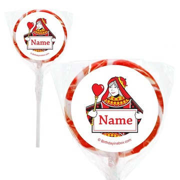 "Queens Card Personalized 2"" Lollipops (20 Pack)"