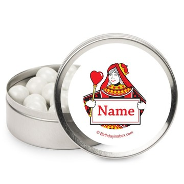 Queens Card Personalized Candy Tins (12 Pack)