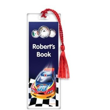 Race Cars Personalized Bookmark (each)