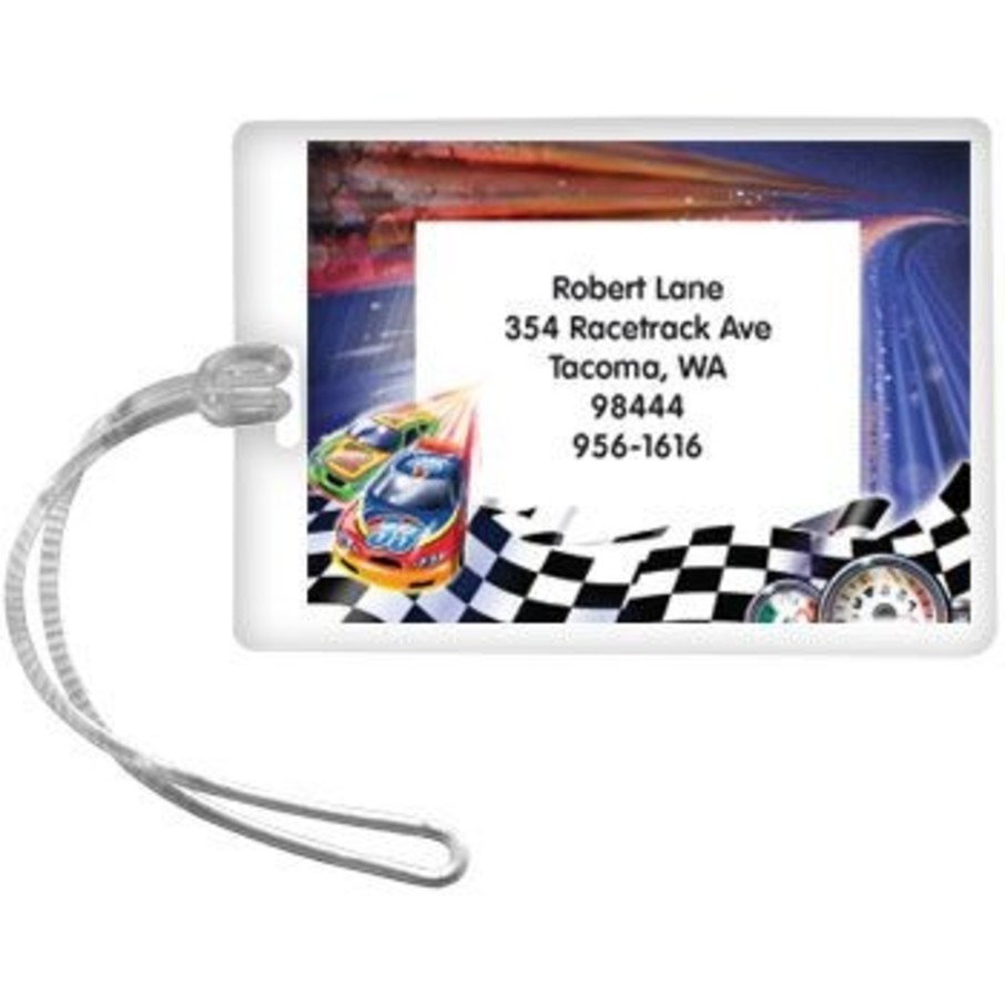 View larger image of Race Cars Personalized Luggage Tag (each)