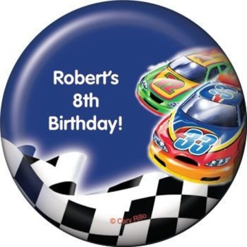Race Cars Personalized Magnet (each)