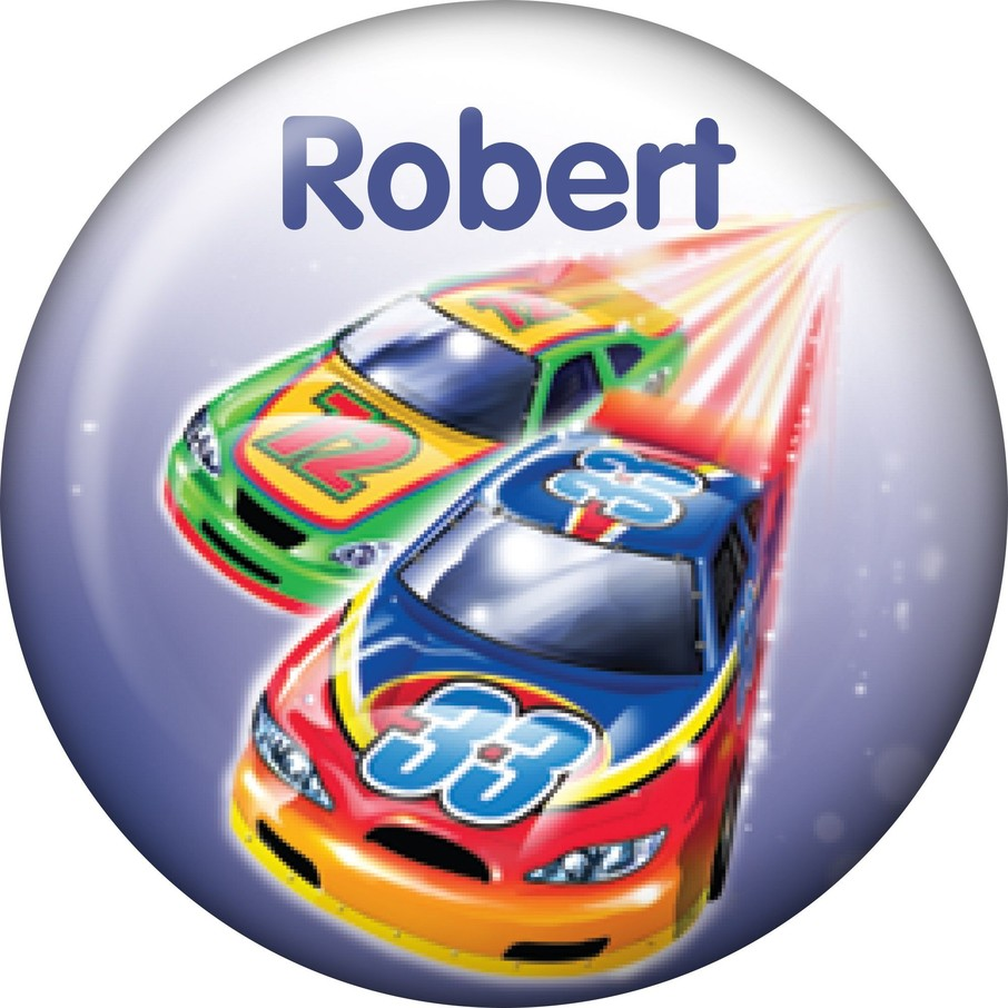 View larger image of Race Cars Personalized Mini Button (Each)
