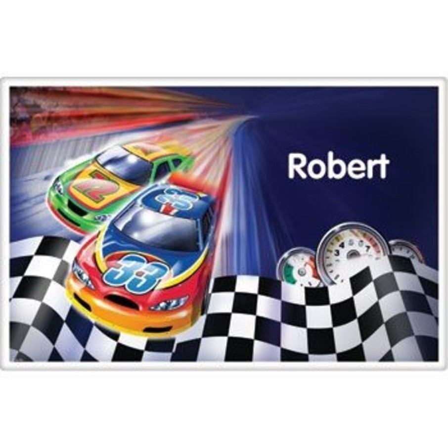 View larger image of Race Cars Personalized Placemat (each)