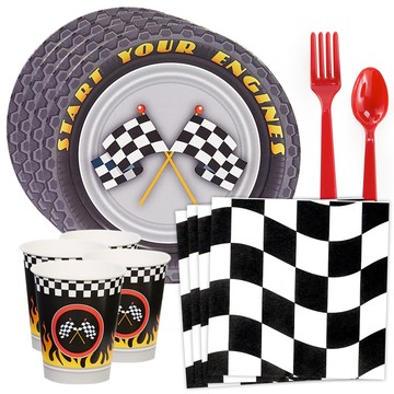 Racecar Racing Party Standard Tableware Kit (Serves 8)