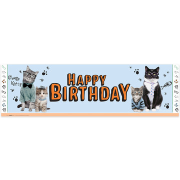 Rachael Hale Cats Rule Birthday Banner