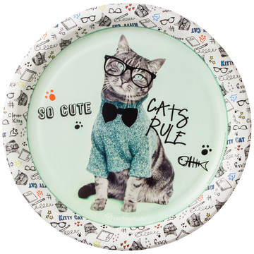 Rachael Hale Cats Rule Dinner Plates (8)