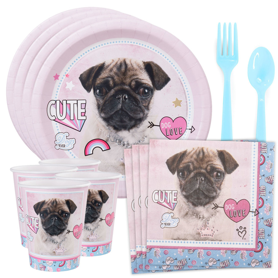 View larger image of Rachael Hale Dog Love Standard Tableware Kit (Serves 8)