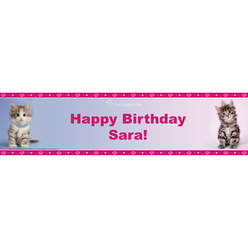 Rachael Hale Glamour Cats Personalized Banner (Each)