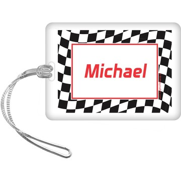 Racing Flag Personalized Bag Tag (each)