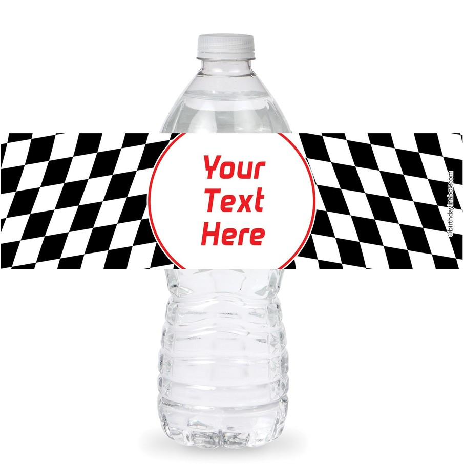 View larger image of Racing Flag Personalized Bottle Labels (Sheet of 4)