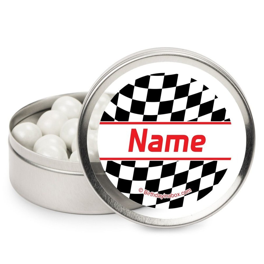 View larger image of Racing Flag Personalized Candy Tins (12 Pack)
