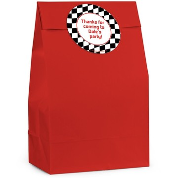 Racing Flag Personalized Favor Bag (Set Of 12)