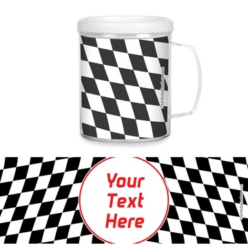 Racing Flag Personalized Favor Mugs (Each)