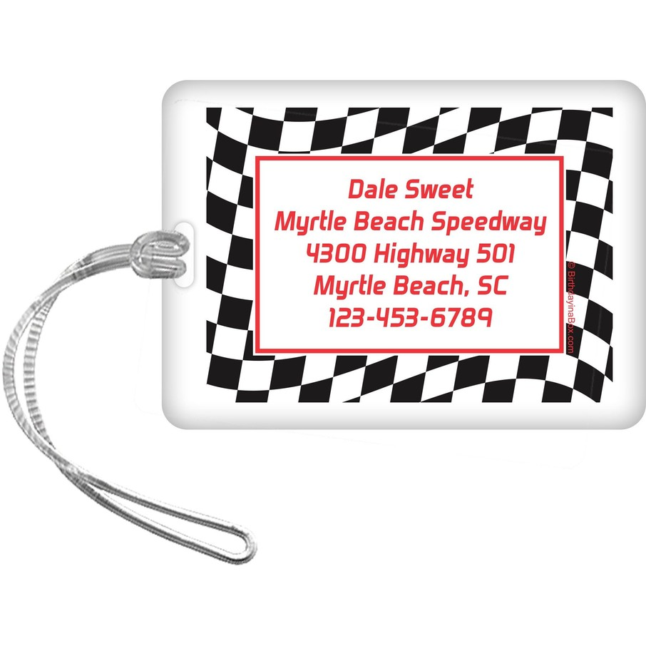 View larger image of Racing Flag Personalized Luggage Tag (each)