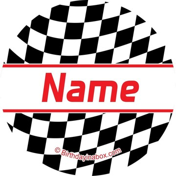 Racing Flag Personalized Mini Stickers (Sheet of 24)