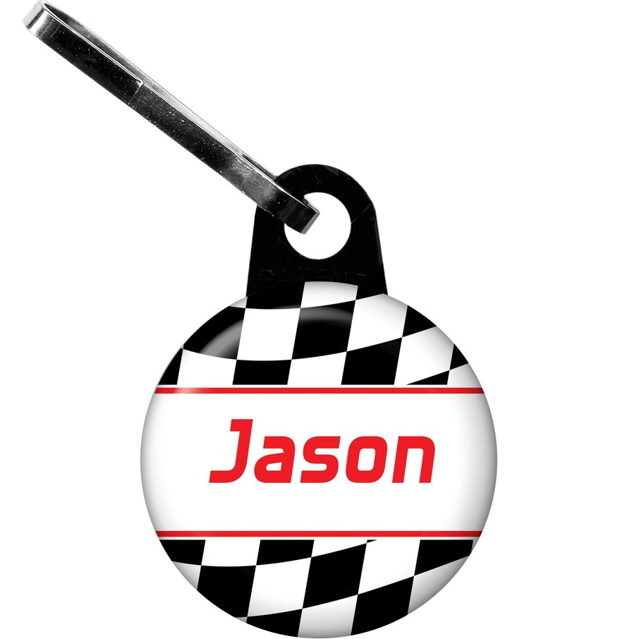 View larger image of Racing Flag Personalized Zipper Pull (each)