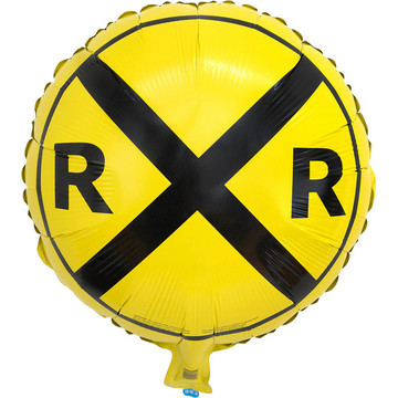 Railroad Crossing Mylar Balloon (1)