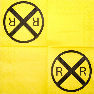 Railroad Party Beverage Napkins (16)