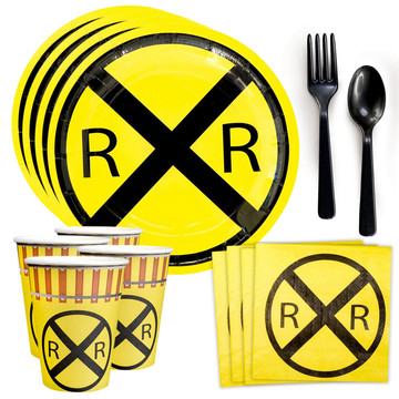 Railroad Party Standard Tableware Kit (Serves 8)