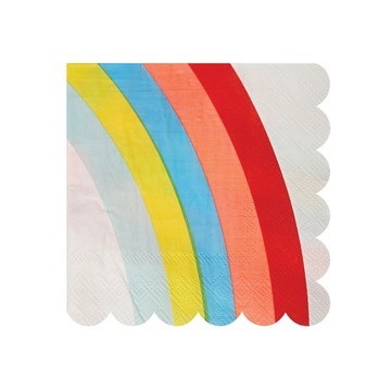 Rainbow Beverage Napkins, 20ct