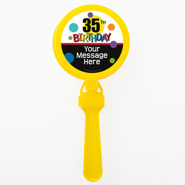 Rainbow Birthday Add-Any-Age Personalized Clappers (Set of 12)