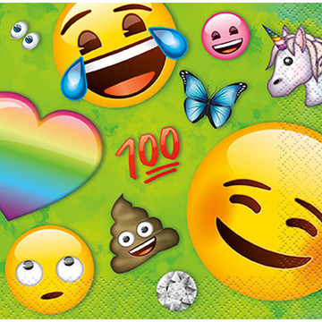 Rainbow Fun Emoji Beverage Napkins (16)