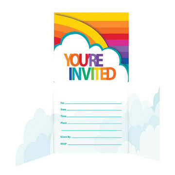 Rainbow Gatefold Invitation (8)