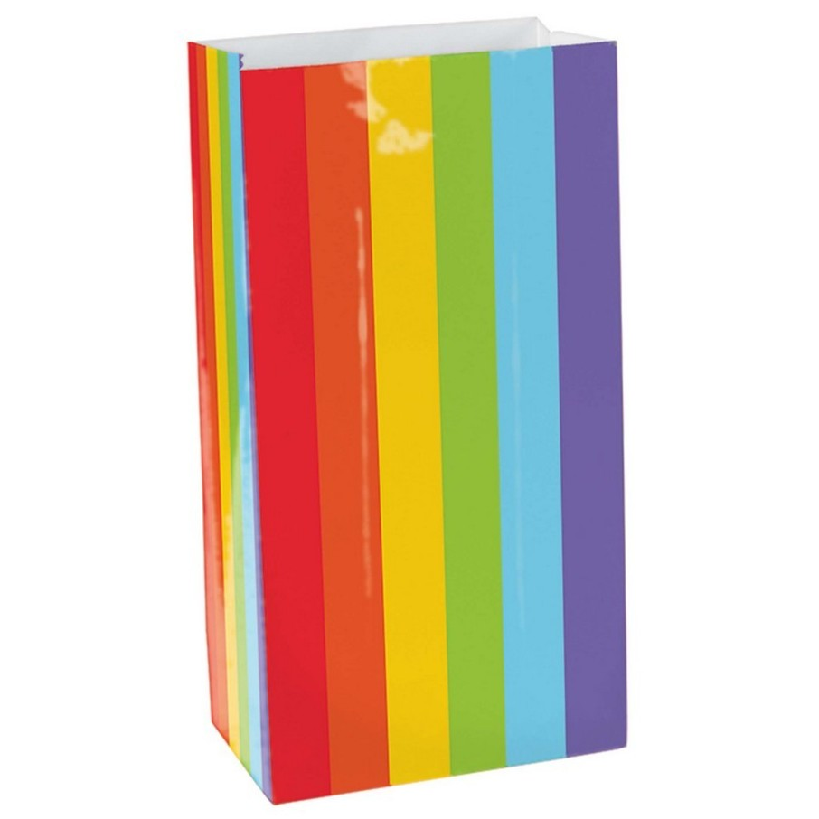 View larger image of Rainbow Paper Favor Bags (12 Pack)