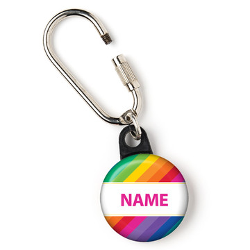"Rainbow Personalized 1"" Carabiner (Each)"